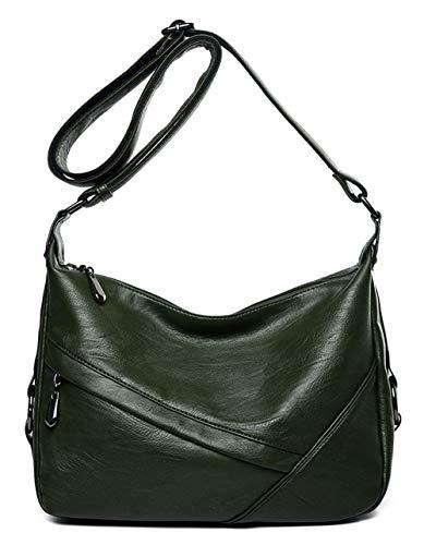Women s Retro Sling Shoulder Bag from Covelin, Leather Crossbody Tote  Handbag dae6caeee1