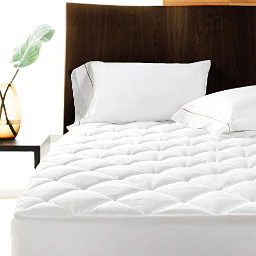 Linens Limited Polycotton Quilted Mattress Protector, Extra Deep, Super King