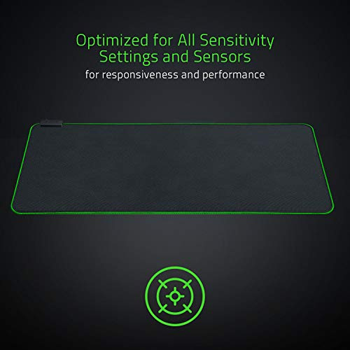 Razer Goliathus Extended Chroma: Micro-Textured Cloth Surface - Optimized for All Sensitiviy Settings and Sensors - Powered by Razer Chroma - Soft Extended Gaming Mouse Mat (Certified Refurbished)