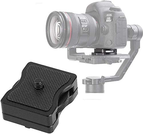 1//4 Screw Camera Stabilizer Height Riser Applied to Quick Release Plate//Baseplate Adapter Compatible for DJI Ronin-S//Ronin-M//Zhiyun Crane DSLR Feiyu Series