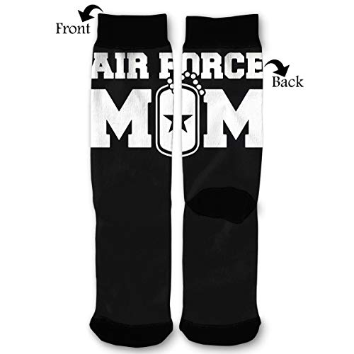 - NGFF Air Force Mom Men Women Casual Crazy Funny Athletic Sport Colorful Fancy Novelty Graphic Crew Tube Socks