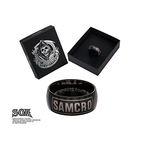 "Sons of Anarchy ""SAMCRO"" Black Stainless Steel Ring 