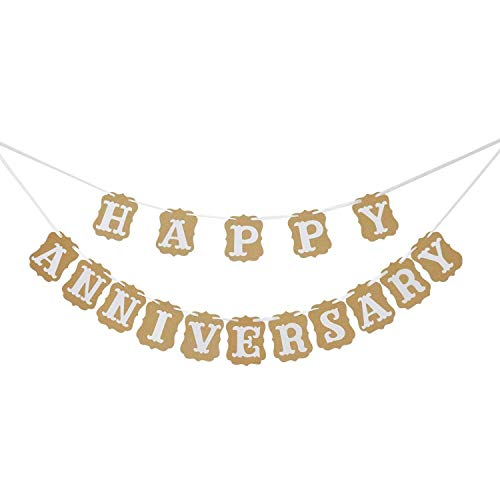 Happy Anniversary Banner Garland Bunting Sign Party Decoration Photo Props