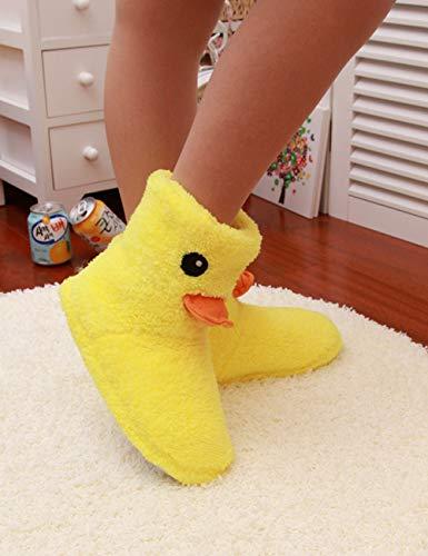 Auspicious Simples Chaussures Chaud Cartoon Accueil Beginning D'hiver Jaune 2 Duck De Imprimé Sport Bottes Femme Rubber Souliers rXprSqO