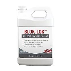 Rainguard CR-0601 Blok-Lok Concentrate 1 Gallon Clear Penetrating Silane Siloxane Professional Grade Water Repellent Sealer - Concrete, CMU, Block, Brick, Stucco, Stone