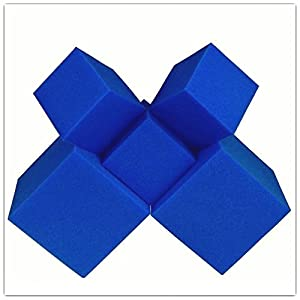 "Isellfoam Foam Pits Blocks/Cubes 20 pcs. (Blue) 5""x5""x5"" (1536) Pit Foam Blocks/Cubes for Skateboard Parks, Gymnastics Companies, and Trampoline Arenas"