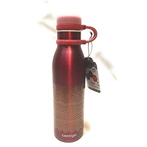 Contigo Matterhorn 20oz Stainless Steel Water Bottle. Cranberry/Chevron