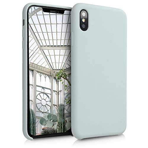 kwmobile TPU Silicone Case for Apple iPhone Xs Max - Soft Flexible Rubber Protective Cover - Light Grey Matte