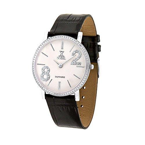 Nobel Women's N7106G Analog Black Leather Band Chic Watch, Christmas Gift