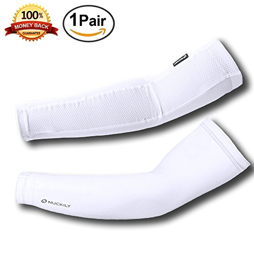 Malocaos Arm Sleeves Men Women - UV Protection Cooling Sunblock Compression Gloves Cover Tattoo Cycling Driving Golf Basketball Running
