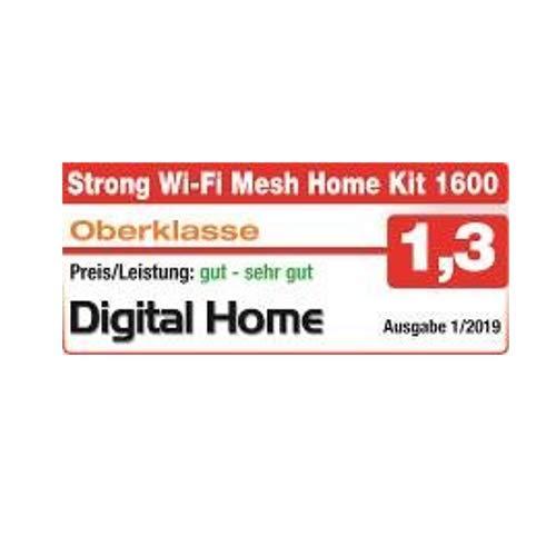 schwarz STRONG Extender 1600 Doppelpack f/ür Mesh WLAN Netzwerk WLAN Verst/ärker, Hotspot, Access Point, Wifi Abdeckung bis 150 m/², bis 1600Mbit//s, 2.4+5GHz, 2x LAN, USB 3.0