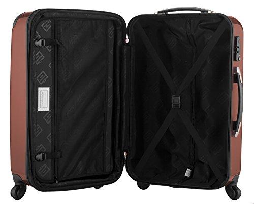 HAUPTSTADTKOFFER® 119 Liter Hartschalen Koffer · (75 x 52 x 32 cm) · Hochglanz · TSA Zahlenschloss · MOCCA BRAUN