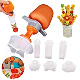 Fruit and Vegetable Shape Cutter Set,Fruit and Cookie Stamps Mold,Pop Chef Fruit Cutter,Fruit Decorating Tools,Sandwich Cutters for Kids Baking,Bento Box and Food Decoration Tools for Kitchen