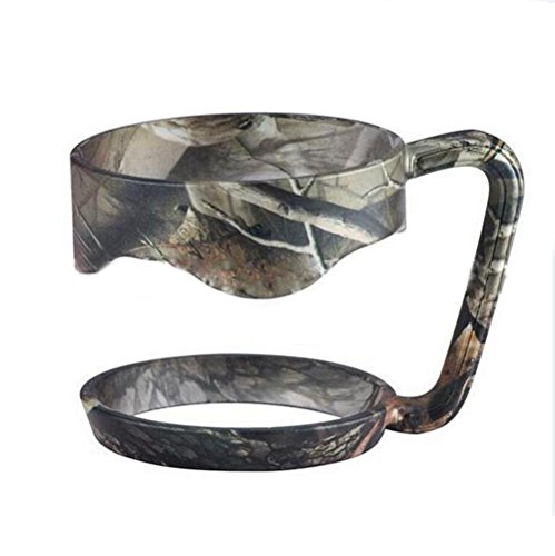 EVERMARKET Handle for Yeti Rambler 30 Ounce Tumblers, Rtic, Sic Cup Ozark Trail and more Tumbler mug (30 oz, Camo)