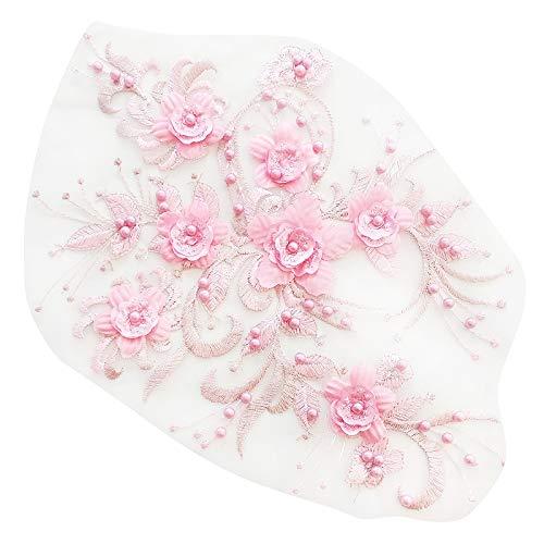 Timagebreze - Disfraz de Flor de Encaje, Perlas Bordadas a la Moda ...