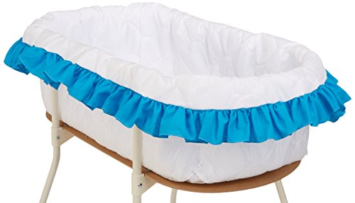 bkb Solid Color Bassinet Bumper, Aqua, Large by bkb