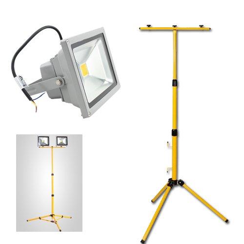 Teleskop Stativ Lampenstativ LED Strahler Flutlicht Lampe Scheinwerfer Ständer