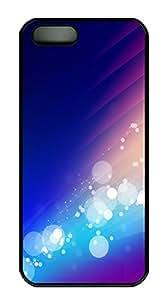 taoyix diy iPhone 5 5S Case Blue violet Background Spot Background Image PC Custom iPhone 5 5S Case Cover Black