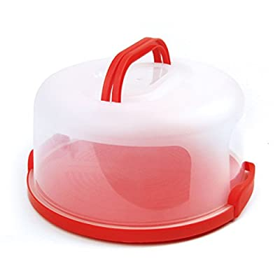 """Sweet Course 12"""" Large Round Plastic Cake Carrier Keeper - Airtight Container"""