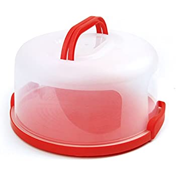 "Cake Carrier by Sweet Course Official 12"" Large Round Container"