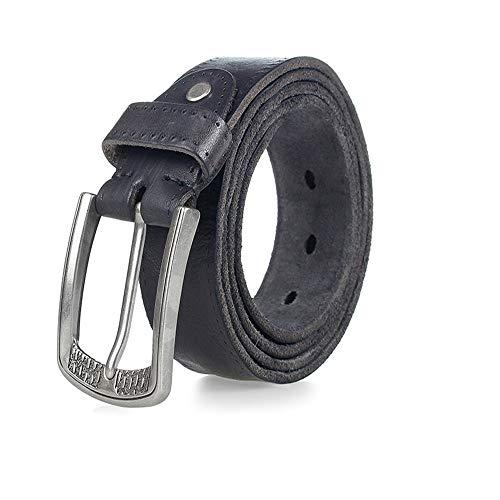della Belt con Fashion cintura Lllm Maschile fibbia nero 115cm il colore Jeans Classic120cm uomo CstrdohQxB