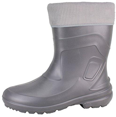 BOCKSTIEGEL® LINDA Mujer - Botas de goma con estilo (Tallas: 36-42) grey/multi