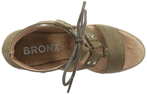 Bronx BedisonX - Sandalias Mujer, color , talla Verde (63 Olive)