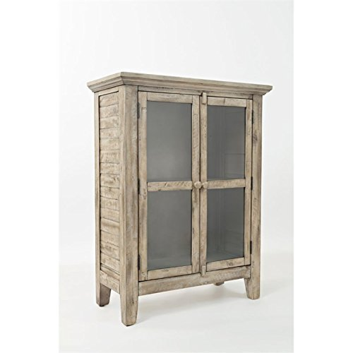 Jofran: 1620-32, Rustic Shores, Accent Cabinet, 32″W X 15″D X 42″H, Vintage Grey Finish, (Set of 1)
