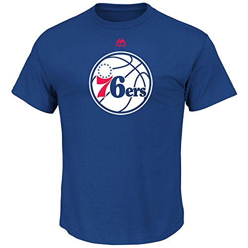 Mens Logo II Short Sleeve Crew Neck Tee – Philadelphia 76ers – DiZiSports Store