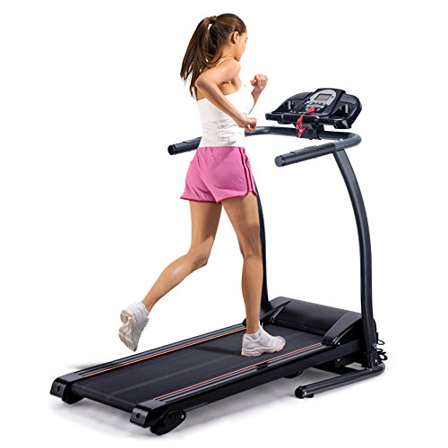 Pinty Folding Electric Treadmill Incline Motorized Running Machine for Home with LED Display, MP3 Player, Emergency Stop, Miles Track (Incline Treadmill)