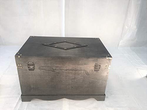 Jamestown Chest Wooden Steamer Trunk - Medium Size Trunk Black