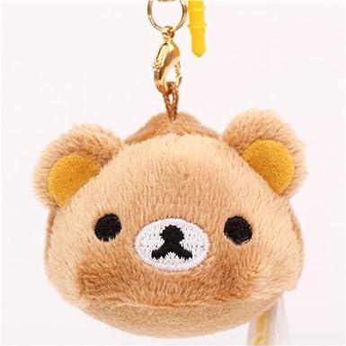 Colgante redondo peluche mini oso marrón Rilakkuma de San-X