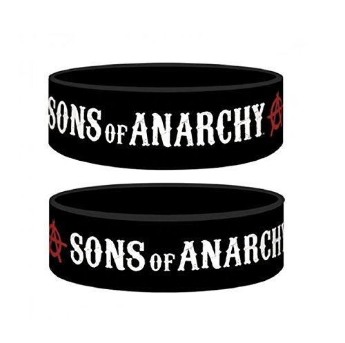 Sons Of Anarchy Logo Official New Black Silicone Wristband