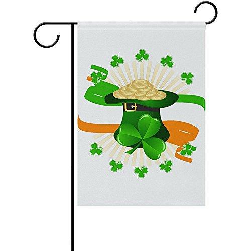Starorland Outdoor Garden Flag St Patrick Day Green Hat Hold