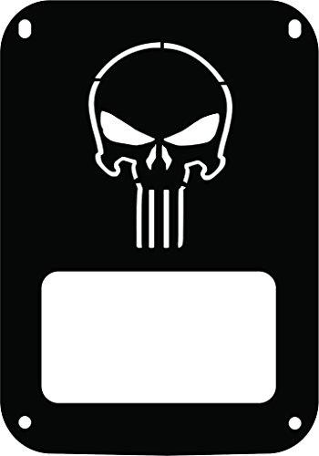 JeepTails Punisher - Jeep JK Wrangler Tail Lamp Covers - Black - Set of -