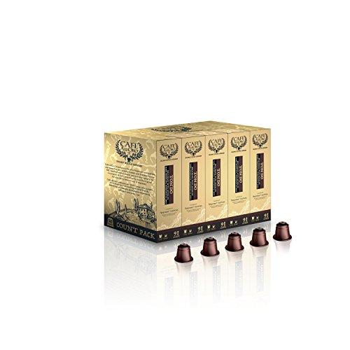Caf\U00E9 Alloro Ultra Premium Compatible Capsules,Tondo, 50 Count, 21 Ounce