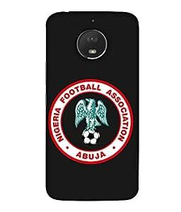ColorKing Football Nigeria 03 Black shell case cover for Motorola Moto E4 Plus