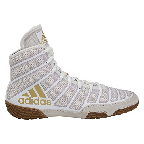 classic fit 8b26e 82291 adidas Adizero Varner Mens Wrestling Shoes, WhiteVegasGum, Size 10