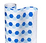 little honey hydrangea Smart Design Shelf Liner w/Decorative Adhesive - Wipes Clean - Cutable & Removable Material - Easy Peel Design - Shelves, Drawers, Flat Surfaces - Kitchen (18 Inch x 20 Feet) [Hydrangea Honeycomb]