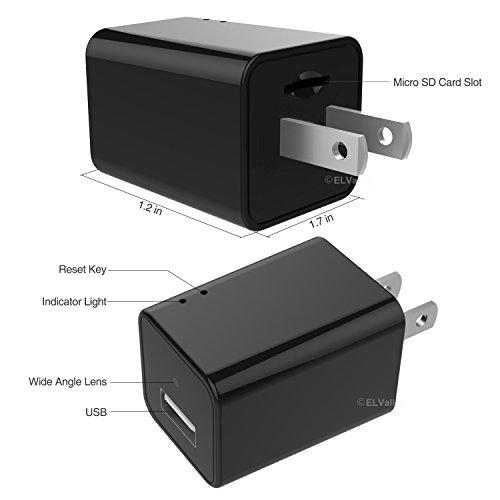 Hidden Spy Camera 1080P HD USB Wall Charger Spy Camera ...