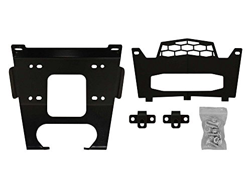 SuperATV Heavy Duty Winch Mounting Plate for Polaris RZR 900/900 S / 900 4 Seater - Fits Machines Prior to 8/31/2014 ()
