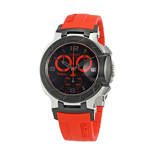 Tissot-Mens-T0484172705702-T-Race-Two-Tone-Stainless-Steel-Watch-with-Red-Rubber-Band