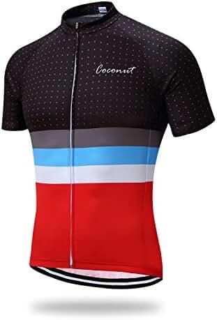 Runmaner Men's Cycling Jersey Short Sleeve Bike Clothing