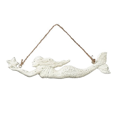 Swimming Mermaid with Sea Star Coastal Holiday Ornaments Set of 2 Midwest CBK by Midwest-CBK