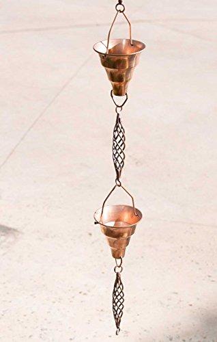 Monarch Pure Copper Tara Rain Chain, 8-1/2-Feet Length