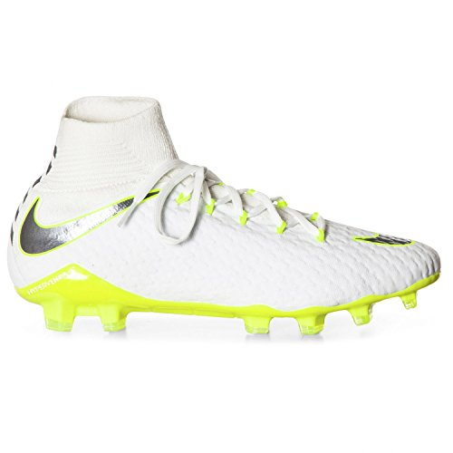 ed5374cd6 Nike Men's Phantom 3 Pro DF FG White/MTLC Cool/Grey Volt (8.5)