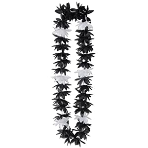 Silk 'N Petals Lotus Lei (black & white) Party Accessory  (1 count) 23