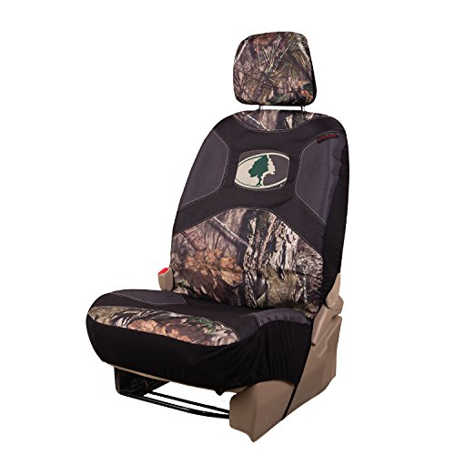 Mossy Oak Camo Seat Cover, Low Back, Black/Country, Single (Mossy Oak Car Accessories)