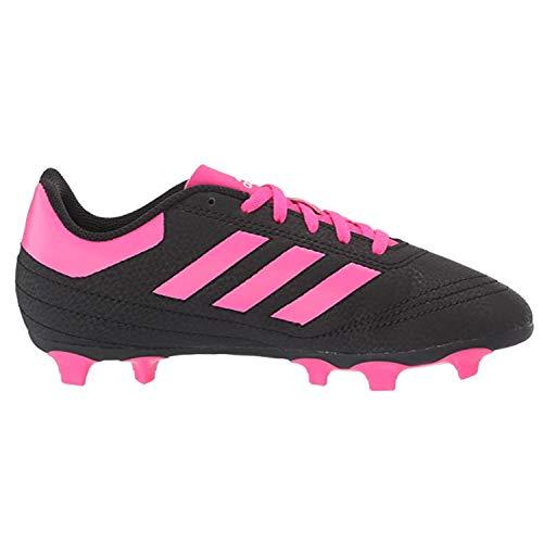 adidas Unisex-Kid's Goletto VI Firm Ground Football Shoe, Black/Shock Pink/White, 4 M US Big Kid
