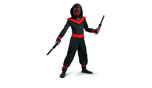 Amazon.com: Glow Away Neon Ninja Costume: Clothing
